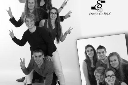 Groupe photo studio