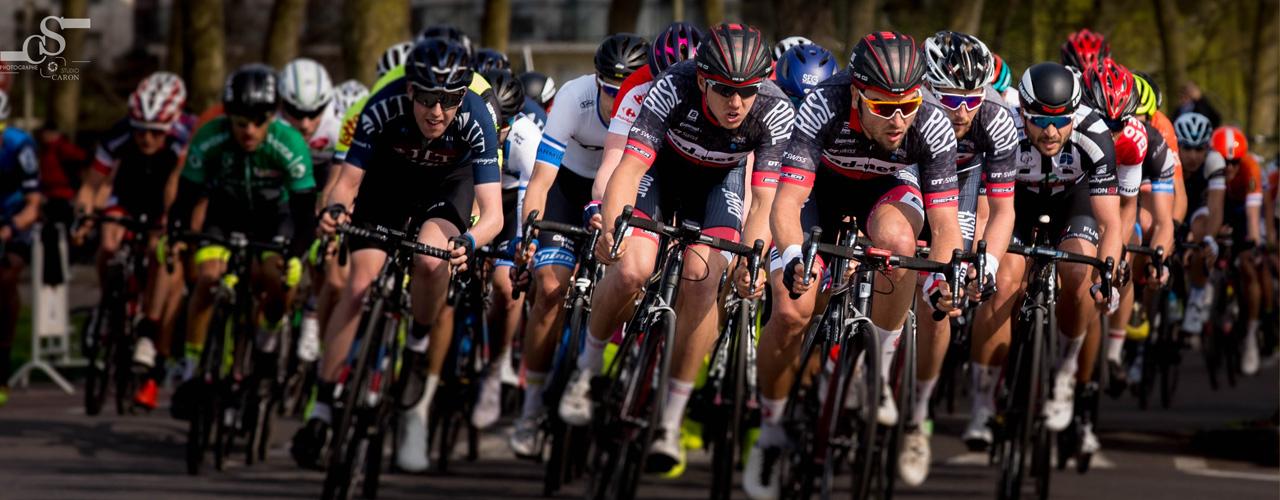 Peloton cyclisme hippodrome de CAEN