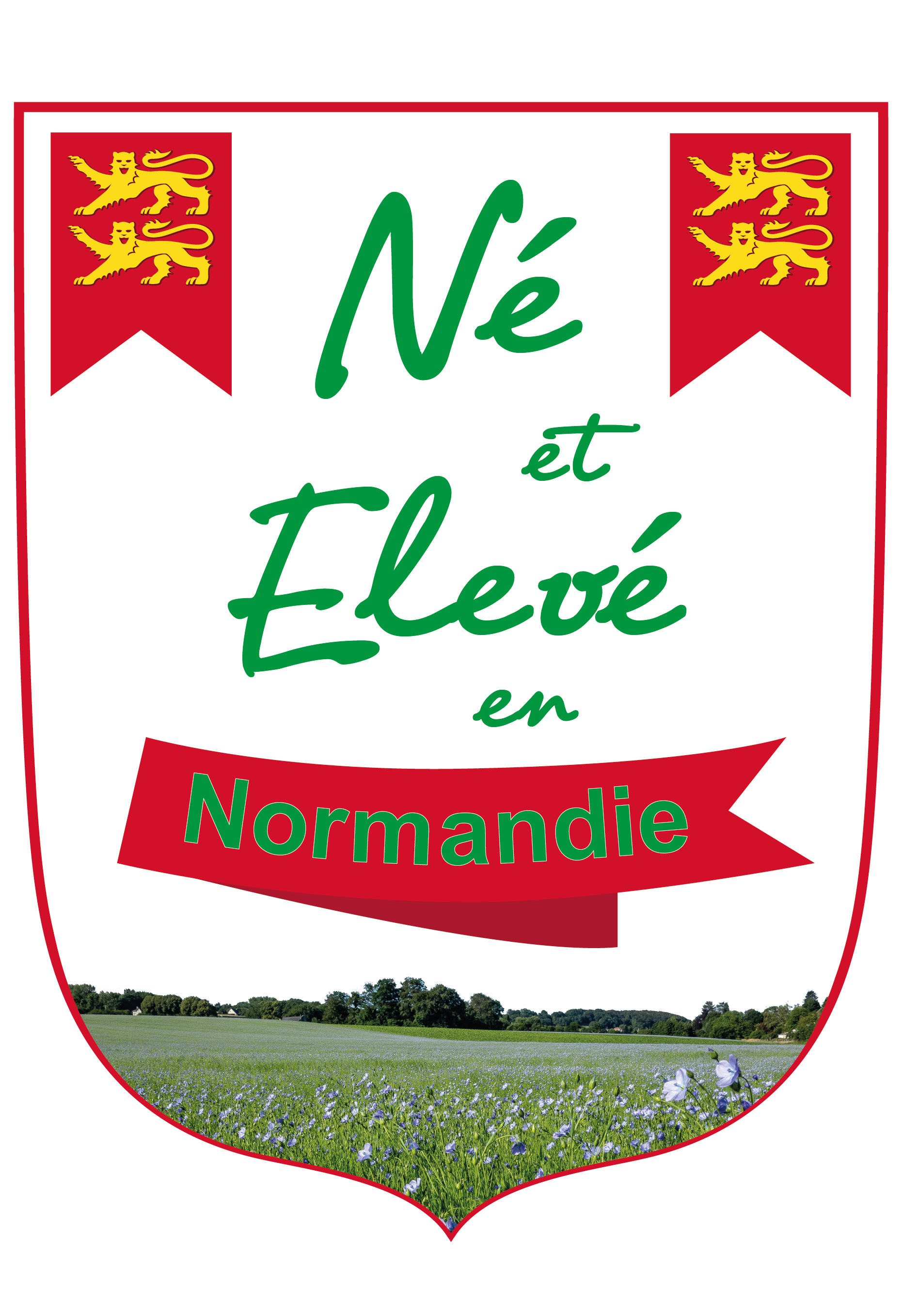 Blason né et élevé en Normandie